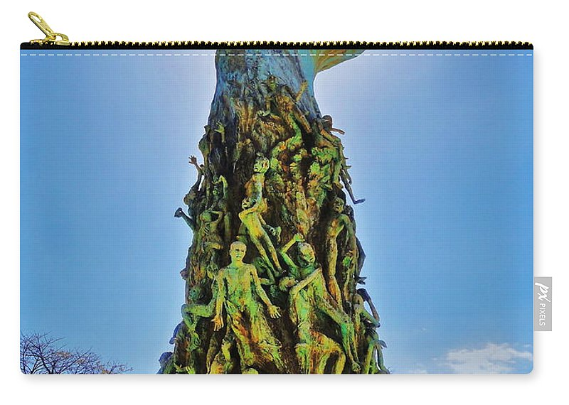 Holocaust Carry-all Pouch featuring the photograph Sorrow by Benjamin Yeager