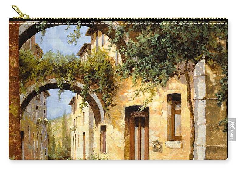 Arch Carry-all Pouch featuring the painting Sotto Gli Archi by Guido Borelli