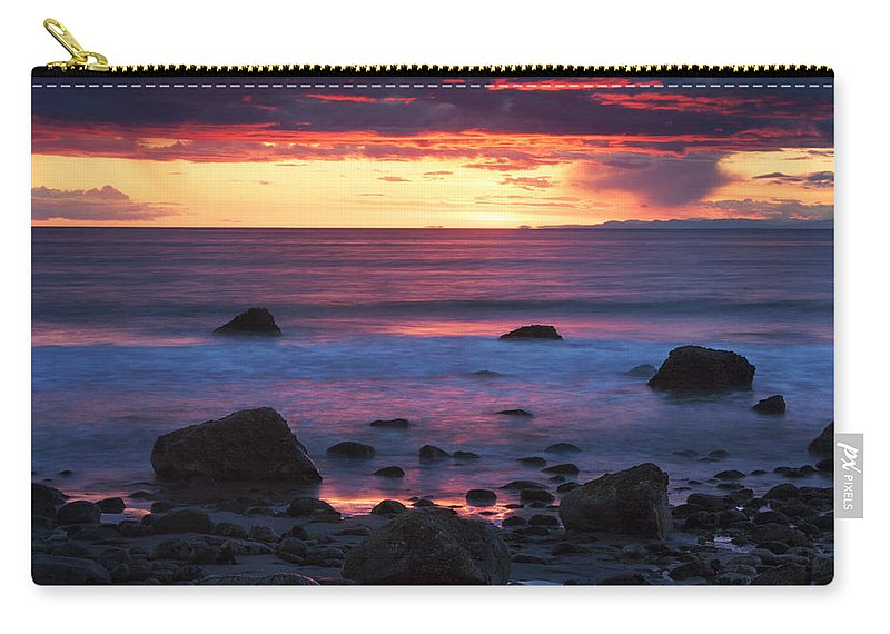 Rocks Carry-all Pouch featuring the photograph Sound Colors by Mark Kiver