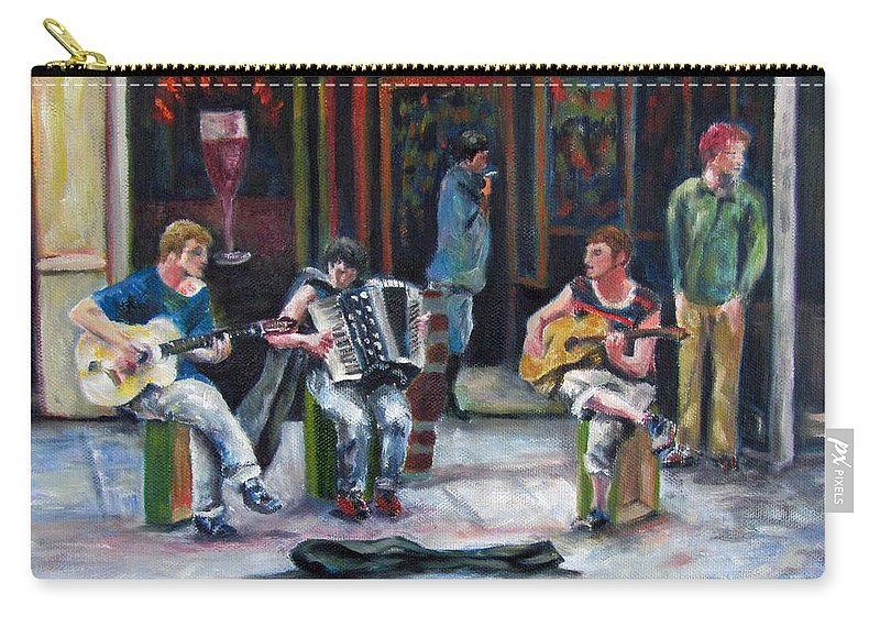 Musicians Carry-all Pouch featuring the painting Sounds Of Paris by Sandra Reeves