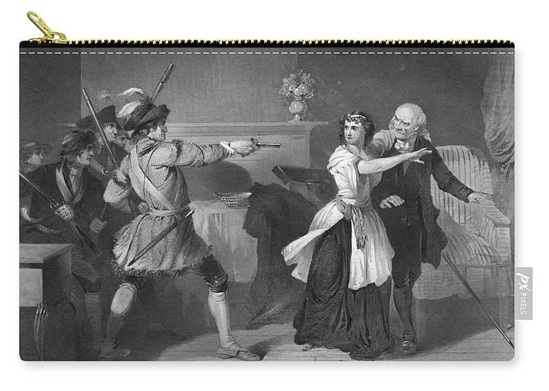 1780s Carry-all Pouch featuring the photograph South Carolina: Loyalists by Granger