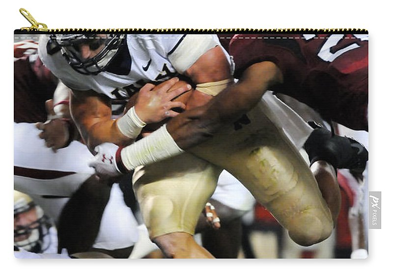 Football Carry-all Pouch featuring the photograph South Carolina Versus Navy by Mountain Dreams