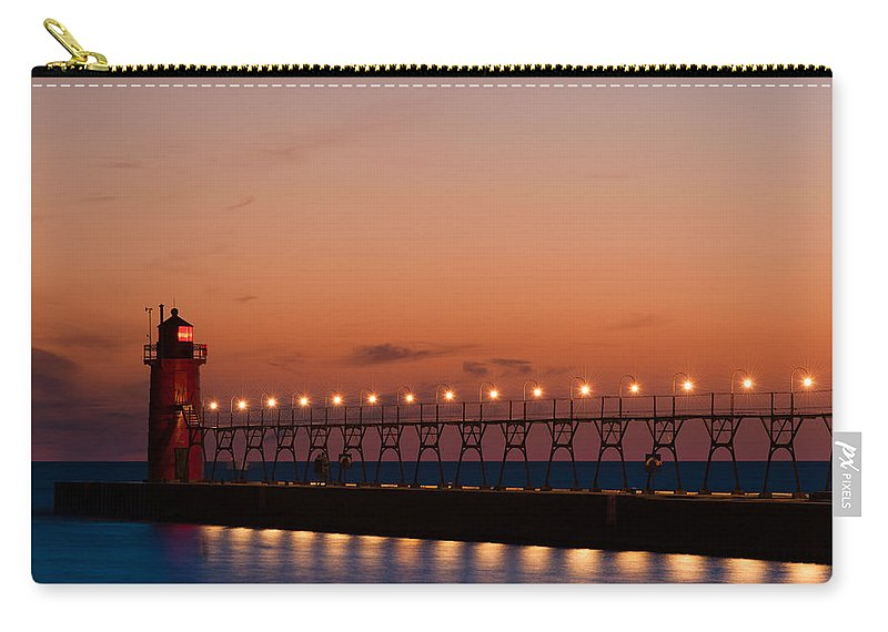 Architecture Carry-all Pouch featuring the photograph South Haven Reflection by Sebastian Musial