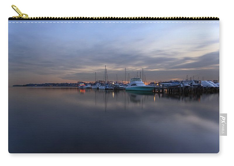 South River Carry-all Pouch featuring the photograph South River Twilight by Edward Kreis