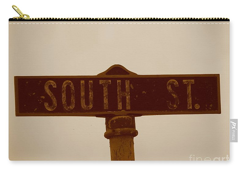 South Carry-all Pouch featuring the photograph South Street by Michael Krek