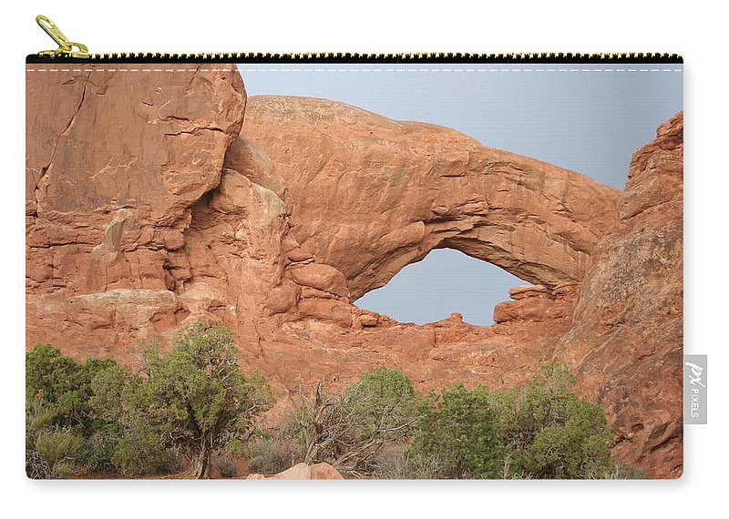 South Window Carry-all Pouch featuring the photograph South Window Arches National Park by Christiane Schulze Art And Photography