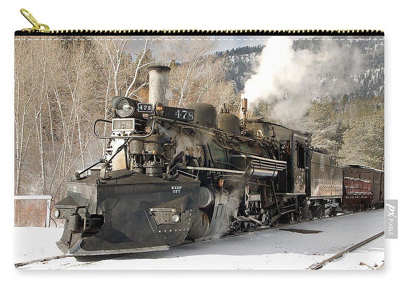 Steam Train Carry-all Pouch featuring the photograph Southbound Through Rockwood by Ken Smith