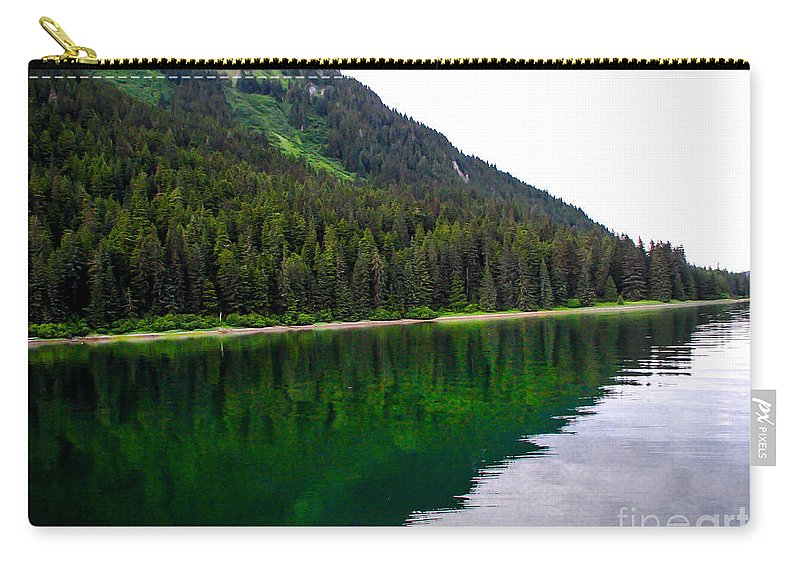 Alaska Carry-all Pouch featuring the photograph Southeast Shoreline by Robert Bales