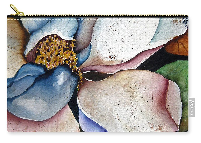Magnolias Carry-all Pouch featuring the painting White Glory by Lil Taylor