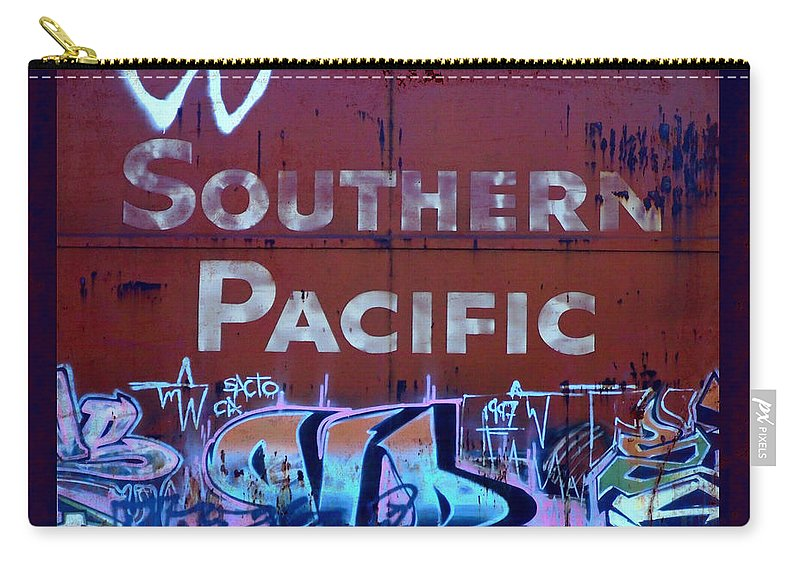 Tag Art Carry-all Pouch featuring the photograph Southern Pacific by Donna Blackhall