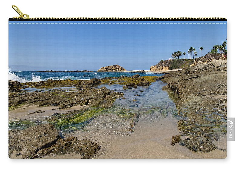 Beach Carry-all Pouch featuring the photograph Aliso Creek Beach I I by Robert VanDerWal