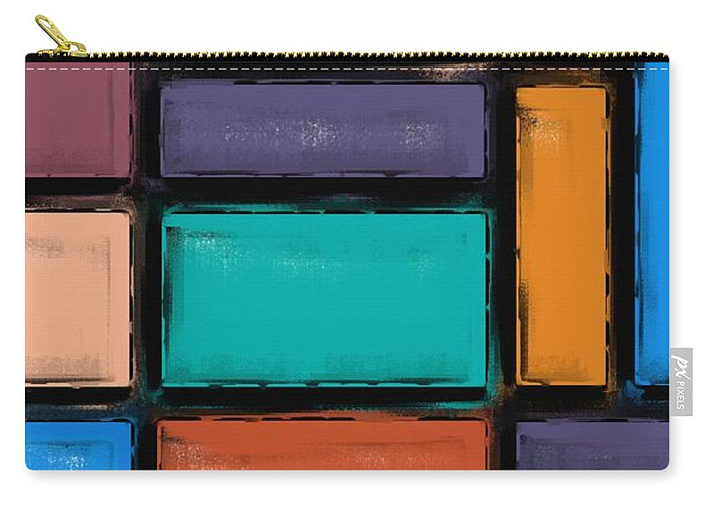Background Carry-all Pouch featuring the painting Southwest Home And Garden Color Block by Heidi Smith