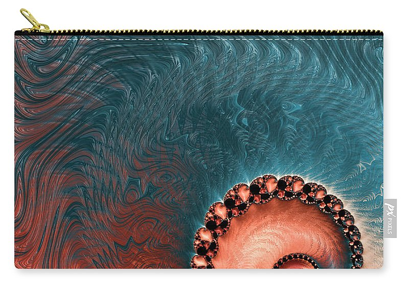Art Carry-all Pouch featuring the digital art Southwest Palette by Heidi Smith