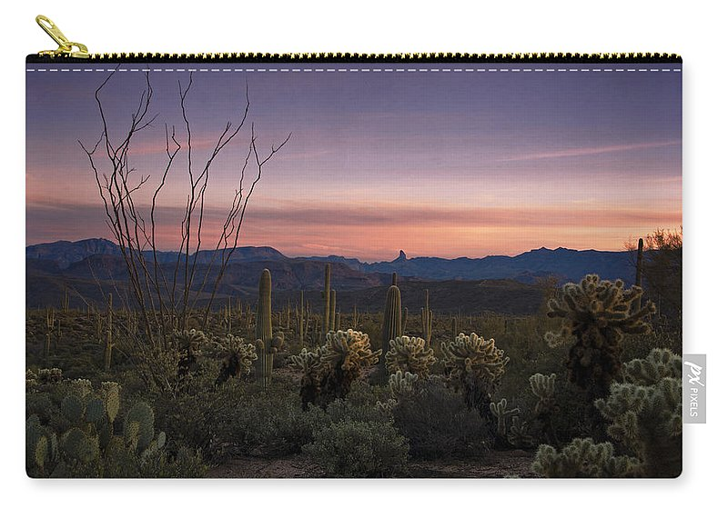 Sunset Carry-all Pouch featuring the photograph Southwest Serenity by Saija Lehtonen