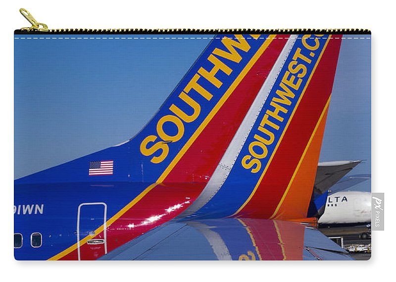 Flight Carry-all Pouch featuring the photograph Southwest by Steven Ralser