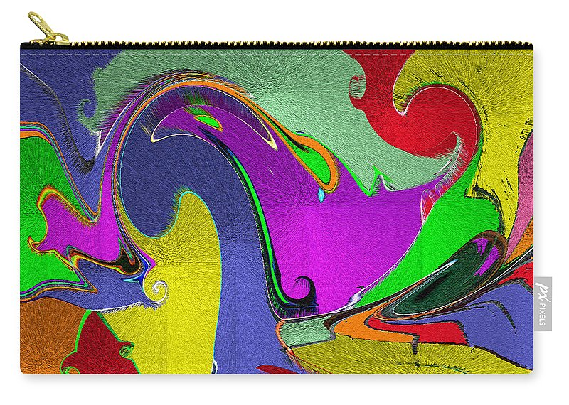 Space Interface Carry-all Pouch featuring the mixed media Space Interface by Carl Hunter