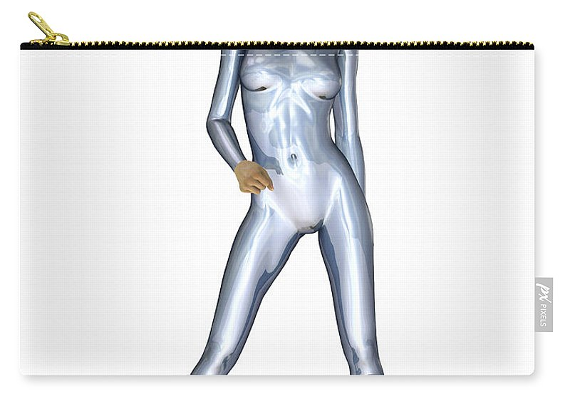 Portrait Carry-all Pouch featuring the digital art Spacegirl 3... by Tim Fillingim