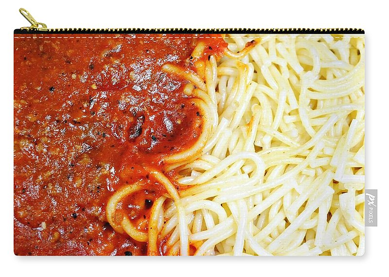 Meal Carry-all Pouch featuring the photograph Spaghetti by Diana Angstadt