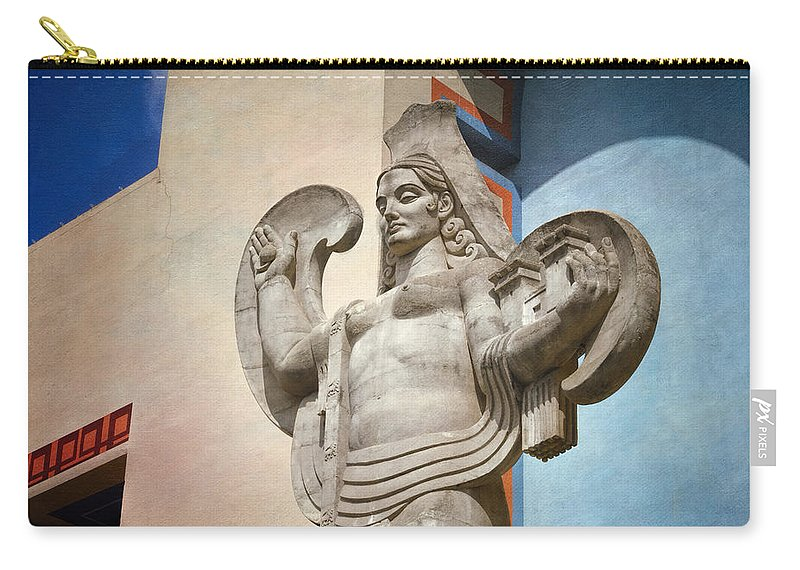 Joan Carroll Carry-all Pouch featuring the photograph Spain Over Texas by Joan Carroll