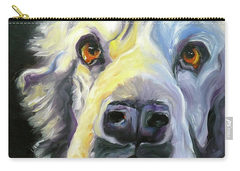 Dogs Carry-all Pouch featuring the painting Spaniel In Thought by Susan A Becker
