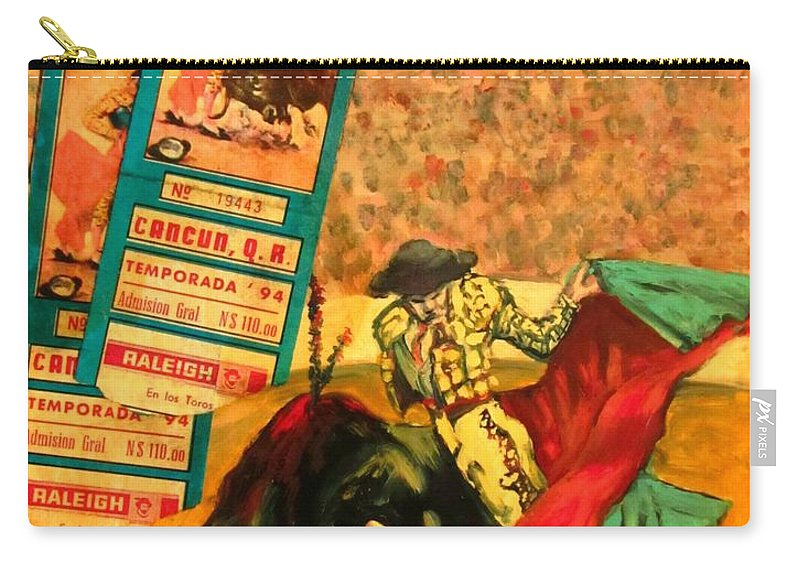Bullfights Carry-all Pouch featuring the photograph Spanish Tradition by John Malone