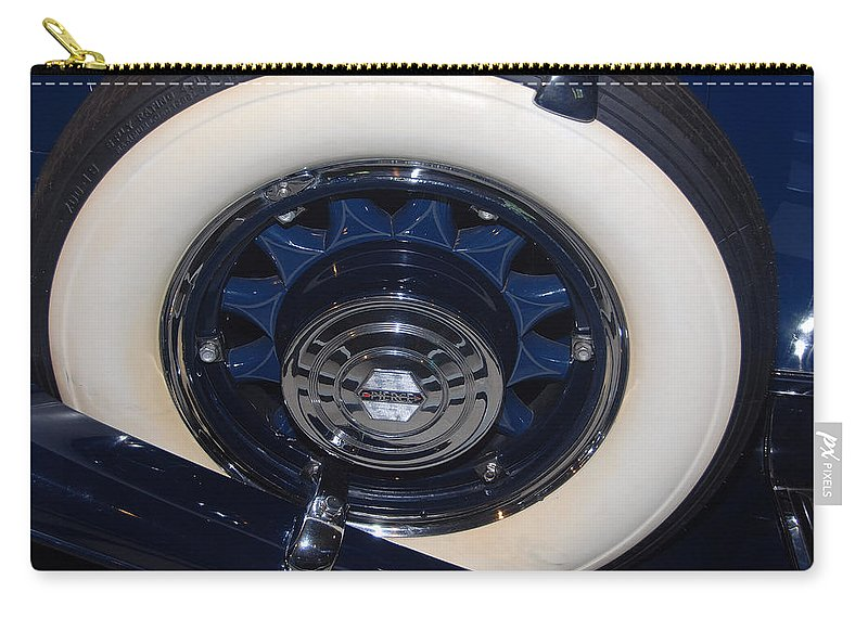 Automotive Details Carry-all Pouch featuring the photograph Spare 1931 Pierce - Arrow by John Schneider