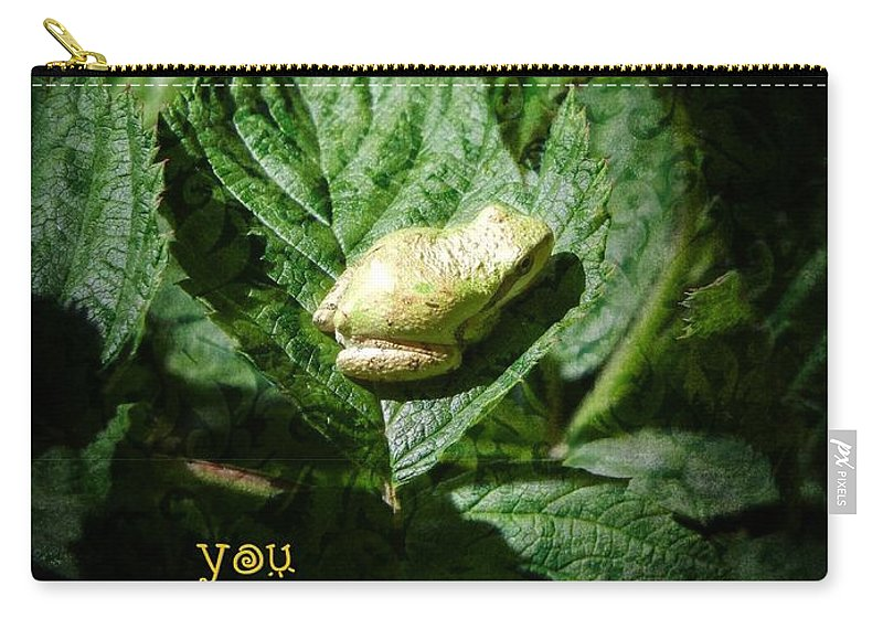 Frog Carry-all Pouch featuring the photograph Sparkle Frog by Jamie Johnson