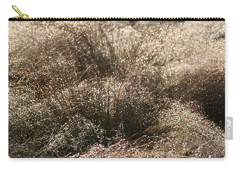 Grasses Carry-all Pouch featuring the photograph Sparkling Grasses by Nadine Rippelmeyer
