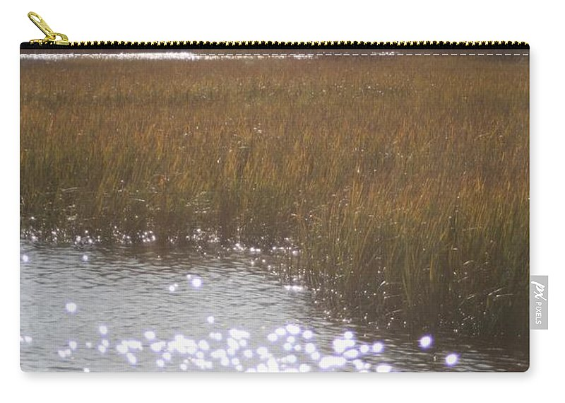 Marsh Carry-all Pouch featuring the photograph Sparkling Marsh by Nadine Rippelmeyer