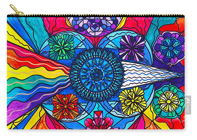 Vibration Carry-all Pouch featuring the painting Speak From The Heart by Teal Eye Print Store