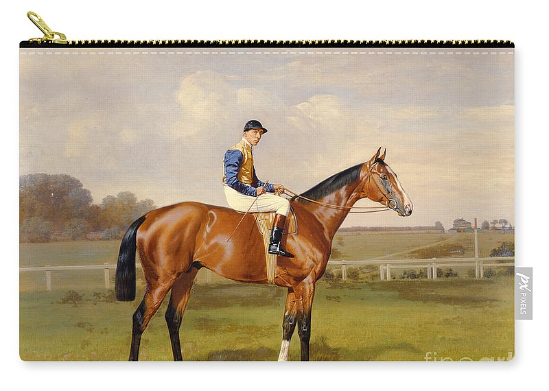 Horse Carry-all Pouch featuring the painting Spearmint Winner Of The 1906 Derby by Emil Adam