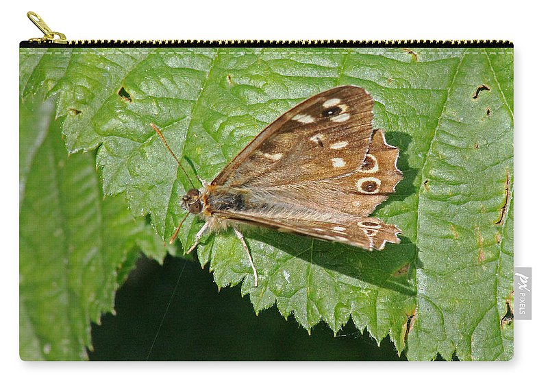 Butterfly Carry-all Pouch featuring the photograph Speckled Wood Butterfly by Tony Murtagh