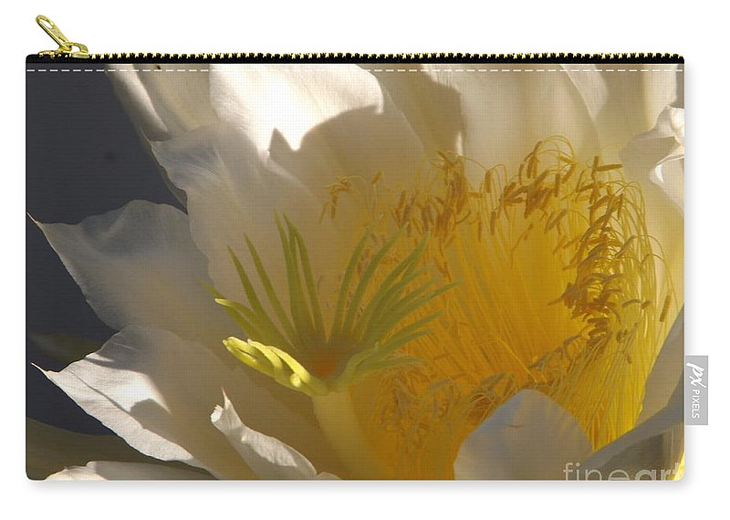 Dragon Fruit Carry-all Pouch featuring the photograph Spectacular Dragon Fruit Bloom by Jussta Jussta