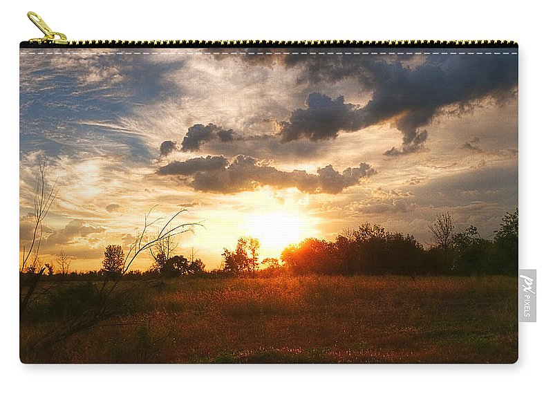 Art Carry-all Pouch featuring the photograph Spectacular Evening by Svetlana Sewell