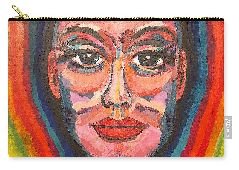 Portrait Carry-all Pouch featuring the painting Spectra by Christel Roelandt