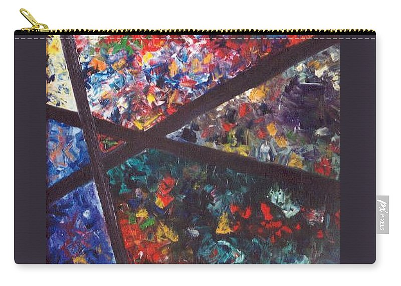 Abstract Carry-all Pouch featuring the painting Spectral Chaos by Micah Guenther