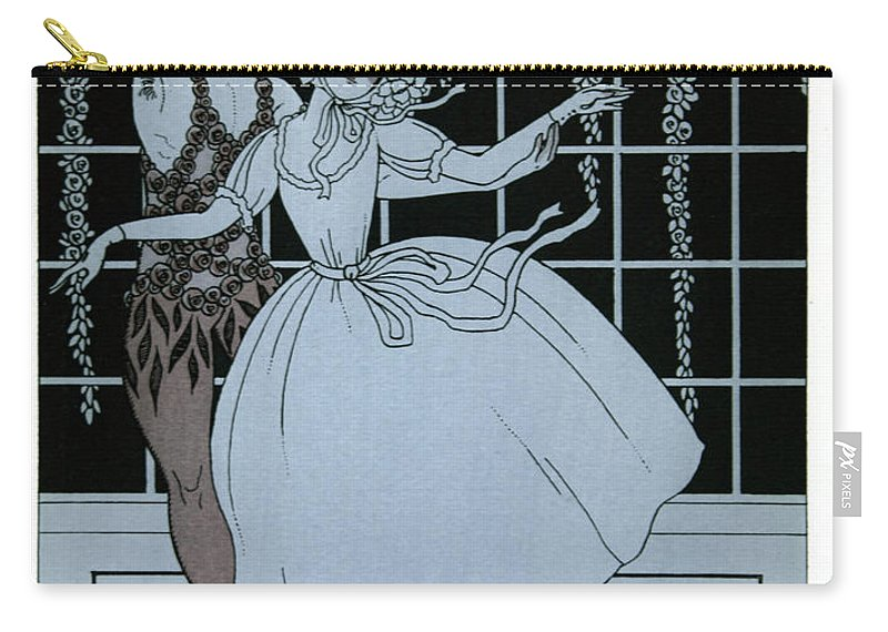 Ballet Carry-all Pouch featuring the painting Spectre De La Rose by Georges Barbier