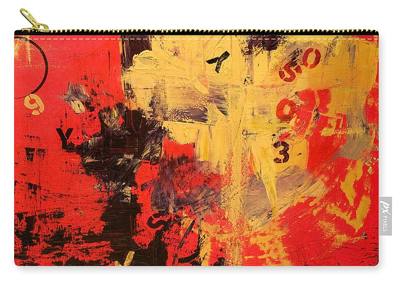 Abstract Carry-all Pouch featuring the painting Speechless by Laura Warburton