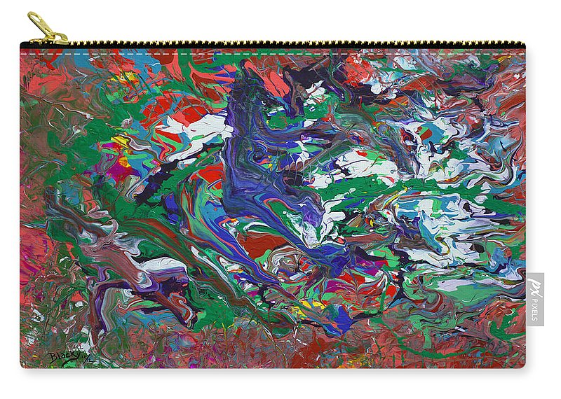 Bold Abstract Carry-all Pouch featuring the painting Speed Demon by Donna Blackhall