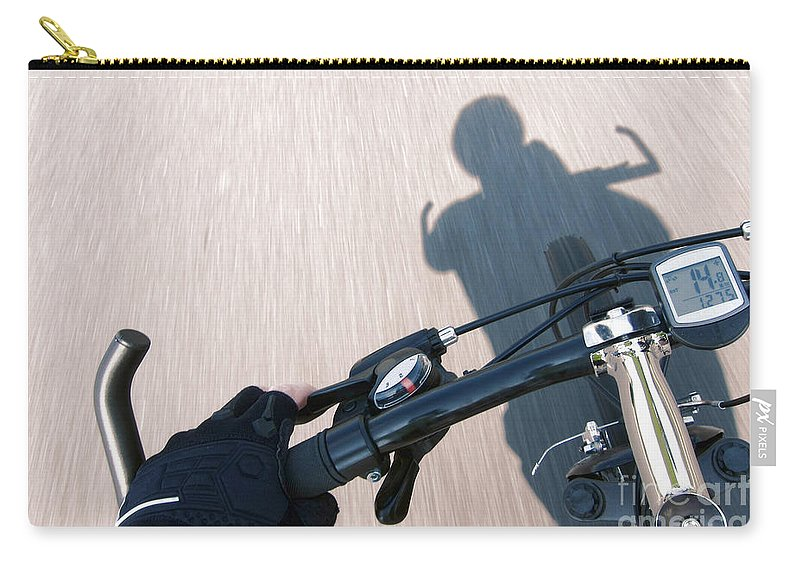 Cyclist Carry-all Pouch featuring the photograph Speed by Olivier Le Queinec
