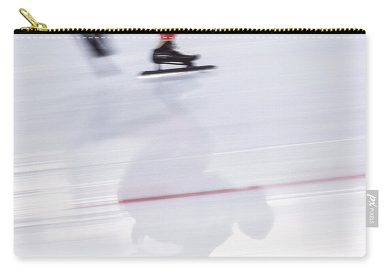 People Carry-all Pouch featuring the photograph Speed Skating, Action Blur by David Madison