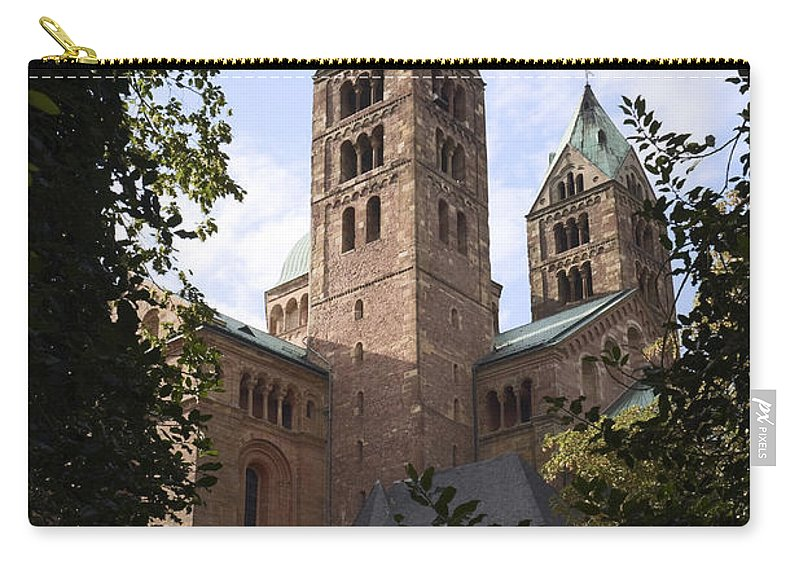 Dom Spires Carry-all Pouch featuring the photograph Speyer Dom Spires by Sally Weigand