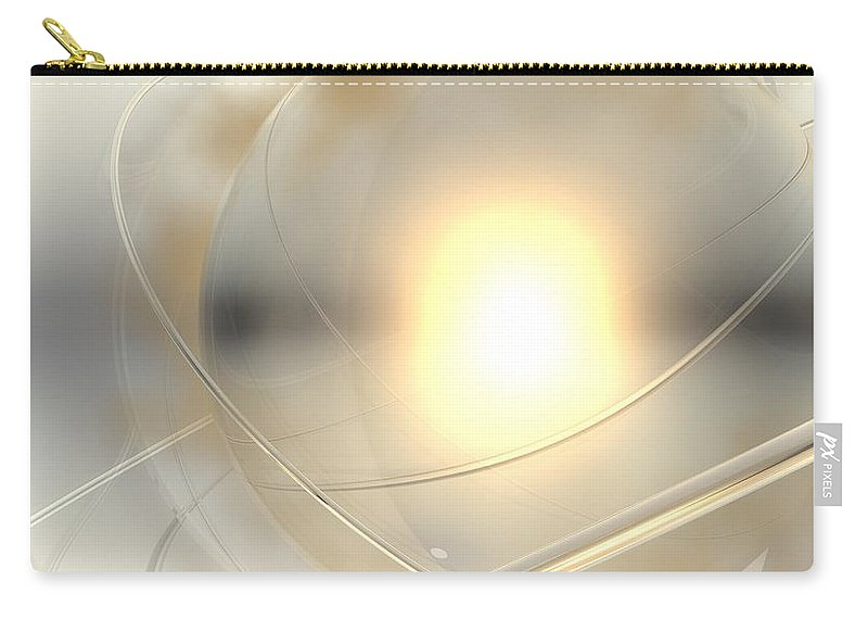 Abstract Carry-all Pouch featuring the digital art Spheres, No. 6 by James Kramer
