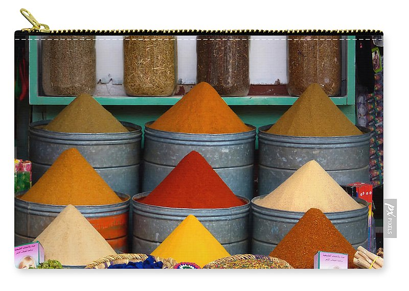 Morocco Carry-all Pouch featuring the photograph Spice Up Your Life by A Rey