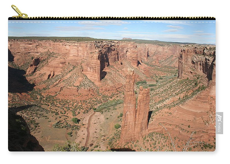 Spider Rock Carry-all Pouch featuring the photograph Spider Rock Canyon De Chelly by Christiane Schulze Art And Photography