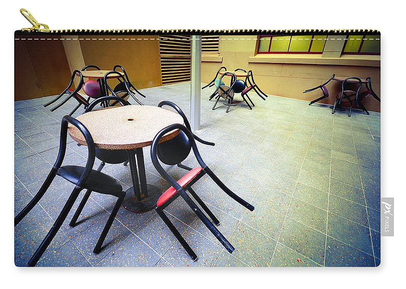 Chairs Carry-all Pouch featuring the photograph Spiders From Mars by Wayne Sherriff
