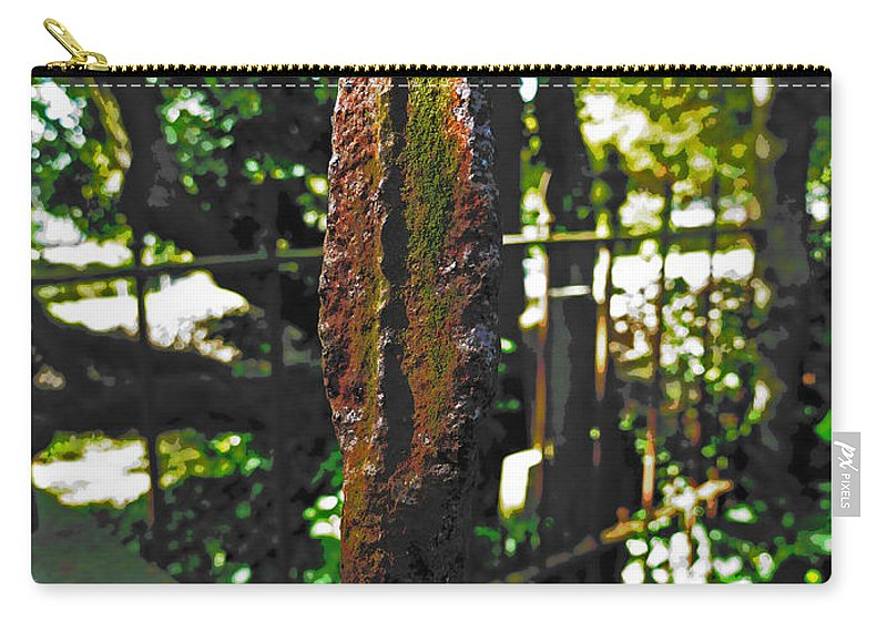 Railing Carry-all Pouch featuring the photograph Spike by Steve Taylor