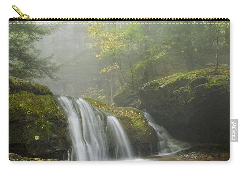 Fog Carry-all Pouch featuring the photograph Spilling Down by Claudia Kuhn