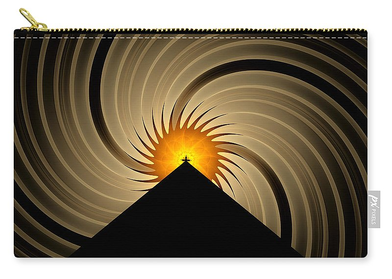 Fractal Carry-all Pouch featuring the digital art Spin Art by Gary Blackman