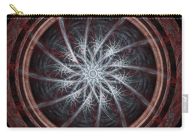 Mandala Carry-all Pouch featuring the digital art Spin by Ricky Barnard